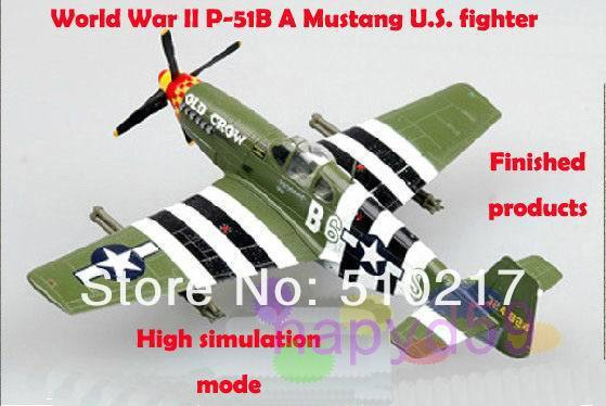 5pcs free ship 1/72 finished world war II piston propeller fighter model military aircraft model P-51B Mustang U.S. fighter