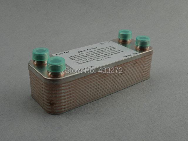 20 Plates Wort Chiller,Plate heat exchanger,Stainless Steel 304, Brewing Chiller, 1/2 inch Garden hose Thread - Homebrew Supply store