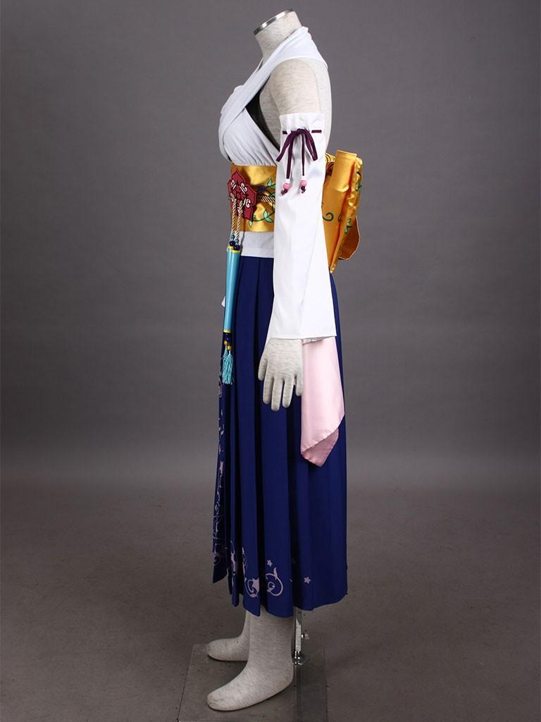 Final Fantasy X Game Yuna Halloween Cosplay Costume