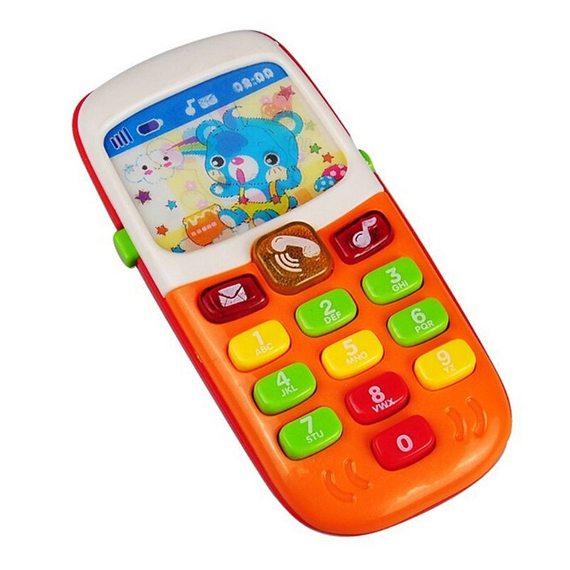 Electronic Mobile Phone with Sound Smart Phone Toy Children Kids Gifts Cellphone Early Education Infant Baby Born Toys Random(China (Mainland))