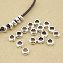 Buy 30pcs/lot Silver Tone Spacer beads European ring Bead Fitting DIY charm Bracelet Big hole Bead Women Jewelry making DIY F407 for $2.62 in AliExpress store
