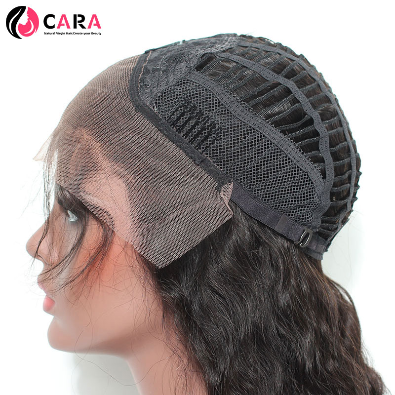 CARA Kinky Curly Lace Front Human Hair Wigs Brazilian Hair Natural Color Pre Plucked Hairline Non-Remy Hair