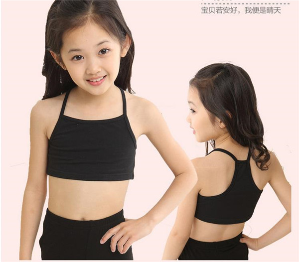 Candy Color Girls Training Bra girl cotton vest child world tank girls underwear tops kids clothing models - Best for You store