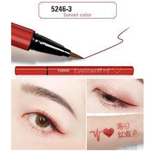 Novo cor lápis delineador marrom caneta preta à prova dwaterproof água de longa duração super fino líquido fosco olho forro caneta bn108(China)