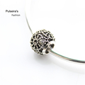 AB 047 Newest Vintage Openwork Daisy Charms Hollow Big Hole Charms Beads Fit Pandora Style Bracelets