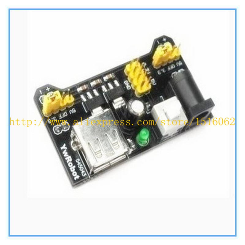 5pcs  MB102 MB-102 Breadboard Power Supply Module 3.3V/5V for Arduino Board Diy Starter Kit