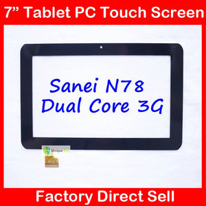 "7inch Black Capacitive Touch Screen Replacement For 7"" Sanei N78 Dual Core Ampe A78 Tablet TPC0509 Free Shipping(China (Mainland))"