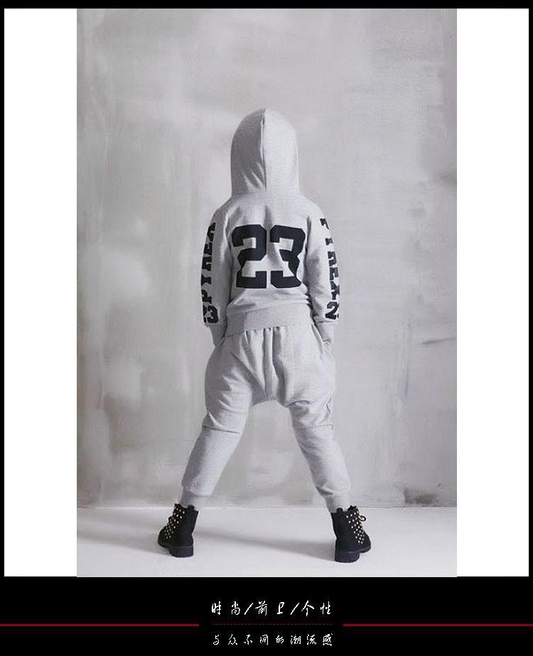 Скидки на Новая мода Весна Осень мальчик детская одежда установить улицы Костюмы дети спортивные костюмы Хип-Хоп танцевальная брюки толстовка 928 #