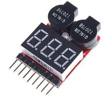 Free Shipping 2015 Hot Sell1 8S LED Low Voltage Buzzer Alarm Lipo Voltage Indicator Checker Tester