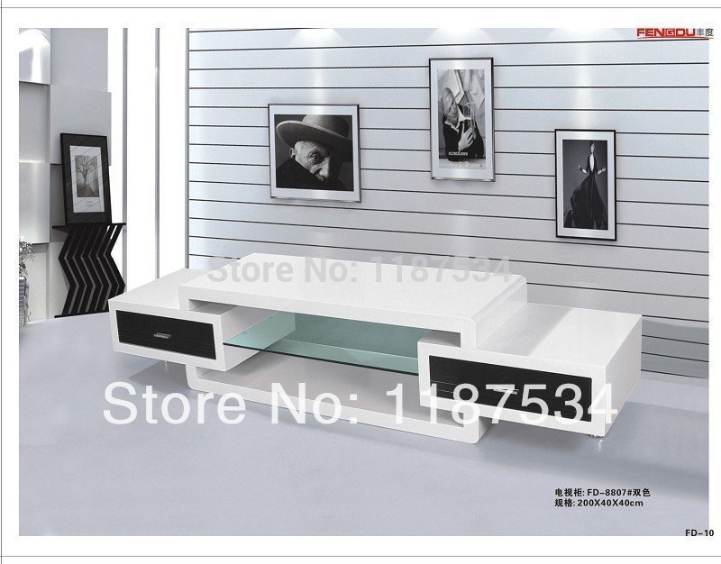 fd8807 living room furniture white high gloss mdf tv stand