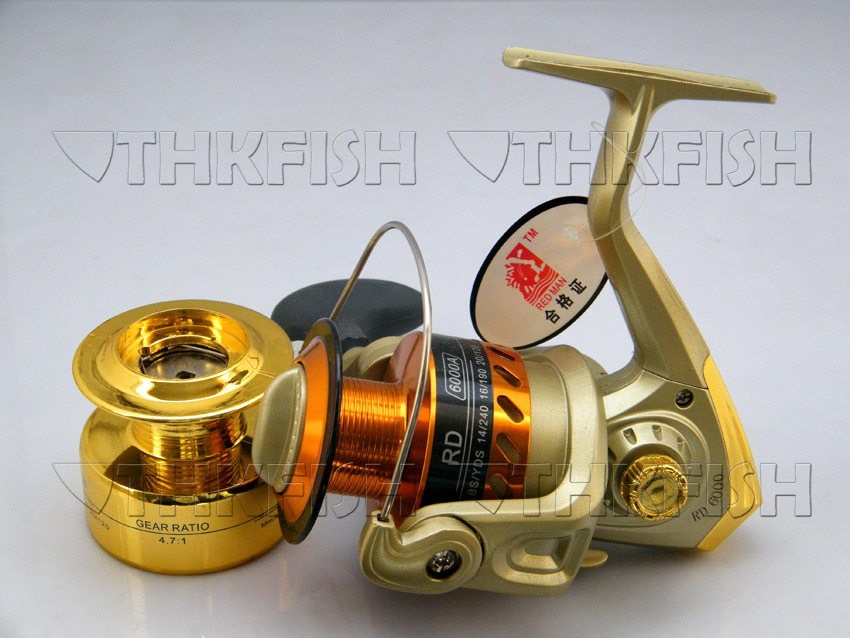 Promotion! 1Pcs RD1000A 5BB HUIHUANG Cheap Aluminum Spinning Reels Fishing Reel With Spare Spool(China (Mainland))