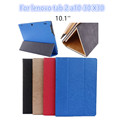 For Lenovo Tab 2 A10 30 leather case cover 10 1 slim protective stand case for