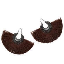 CWEEL Ohrringe Rot Lange Quaste Ohrringe Für Frauen Vintage Ethnische Fransen Earing Modeschmuck Za Hängen Ohrringe Brincos(China)
