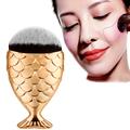 Best Deal New Fish Scale Makeup Brush Fishtail Bottom Brush Powder Blush Foundation Cosmetic Brushes Tool
