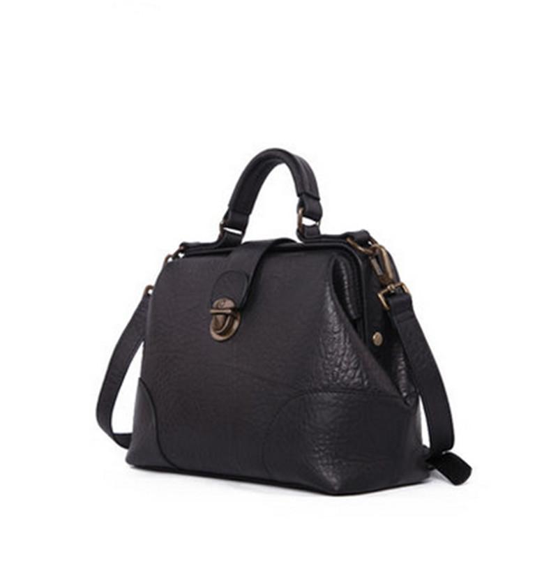 2016 Women Vintage Cow Leather Hand Bag Casual Handmade Soft Leather Shoulder Bag High Quality Handbag(China (Mainland))