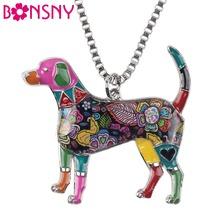 Buy Bonsny Statement Metal Alloy Enamel Beagle Choker Necklace Chain Collar Pendant 2016 Fashion New Jewelry Women for $4.60 in AliExpress store
