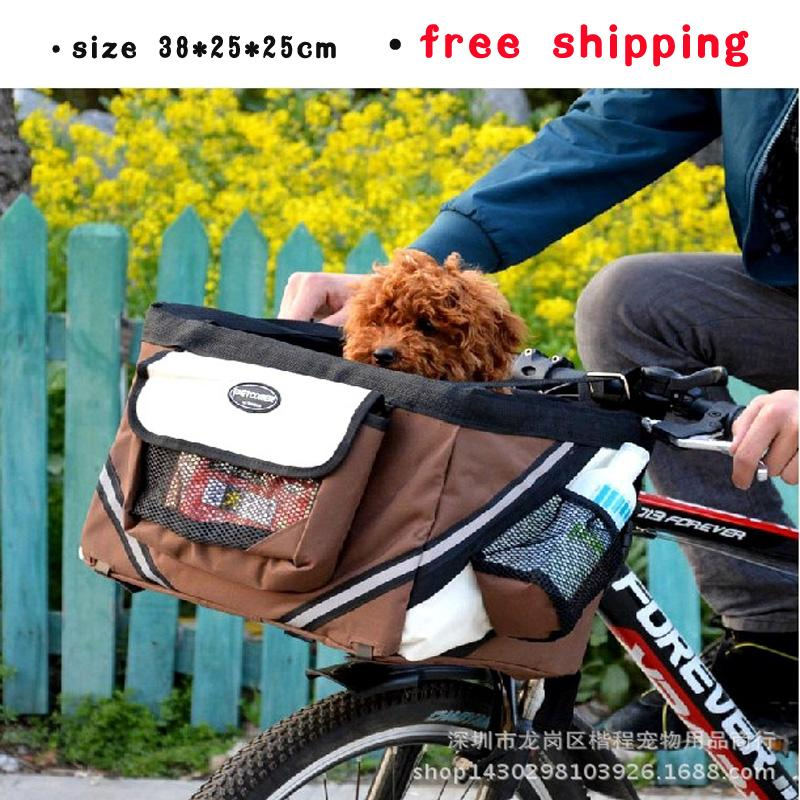 Portable Bicycle Baskets For Dogs Cat Pet Carrier Travel Tote High Quality Dog Bike Bag Oxford Cloth Free Shipping(China (Mainland))