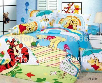 cute children's bedding set 4PC set kids cartoon boys girls Queen duvet cover  pillowslips bedspreads hot sell