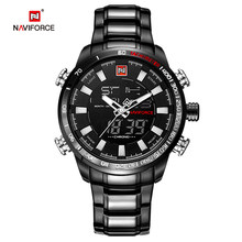 NAVIFORCE hommes montre Quartz analogique luxe mode Sport montre-bracelet étanche en acier inoxydable mâle montres horloge Relogio Masculino(China)