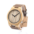 BOBO BIRD Wooden Women s Watches Handmade Bamboo Wooden Wristwatches Leather Band Luxury Ladies Wood Watches