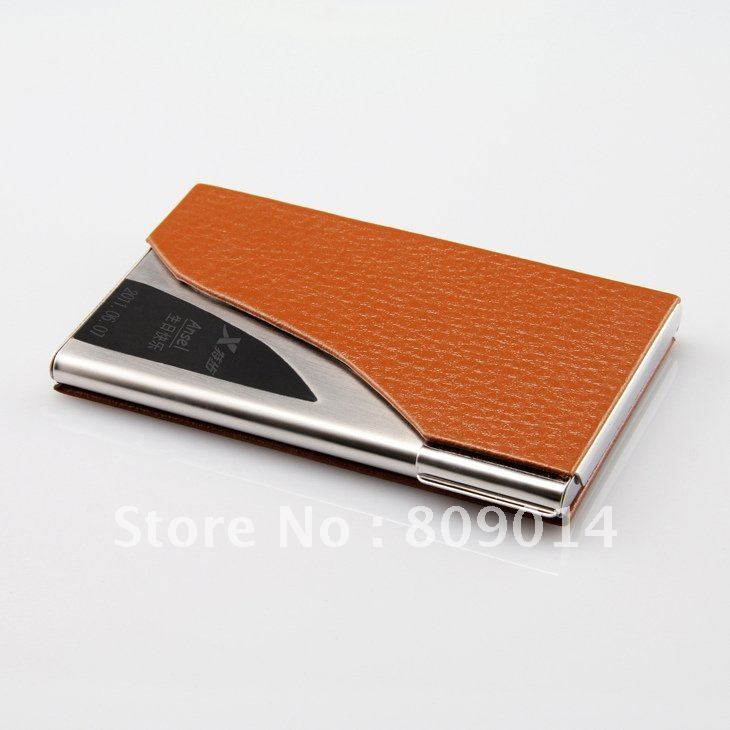 Stylish diamond patent leather business card holder bank for Monogrammed leather business card holder