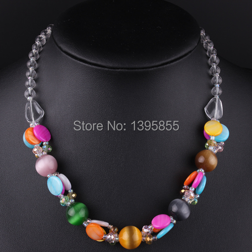 New Fashion Jewelry Crystal Necklace Statement Nature Stone Free Shipping Bead<br><br>Aliexpress
