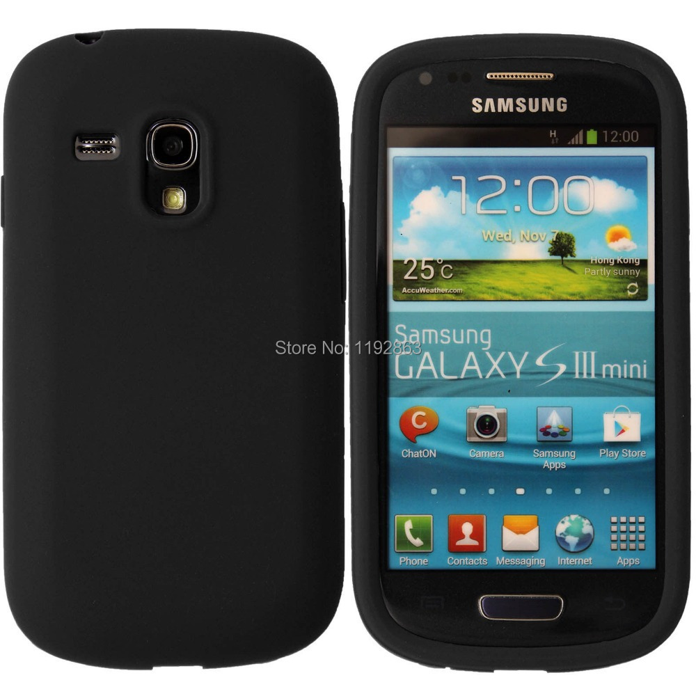 Black Soft Silicone Skin Case Cover For Samsung Galaxy S3 Mini i8190 Free Shipping(China (Mainland))