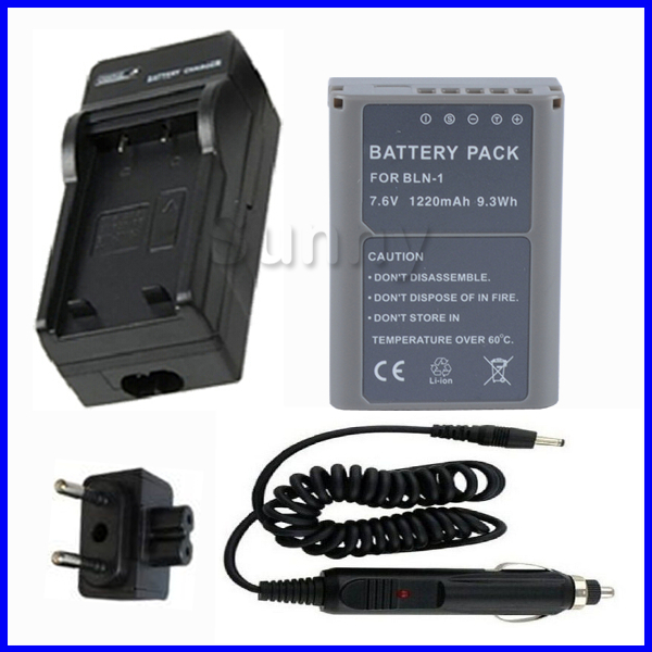 Battery + Charger for Olympus PEN E-P5, EP5, OMD EM1, E-M1, OMD EM5, E-M5, OM-D EM5 Mark II Digital Camera<br><br>Aliexpress