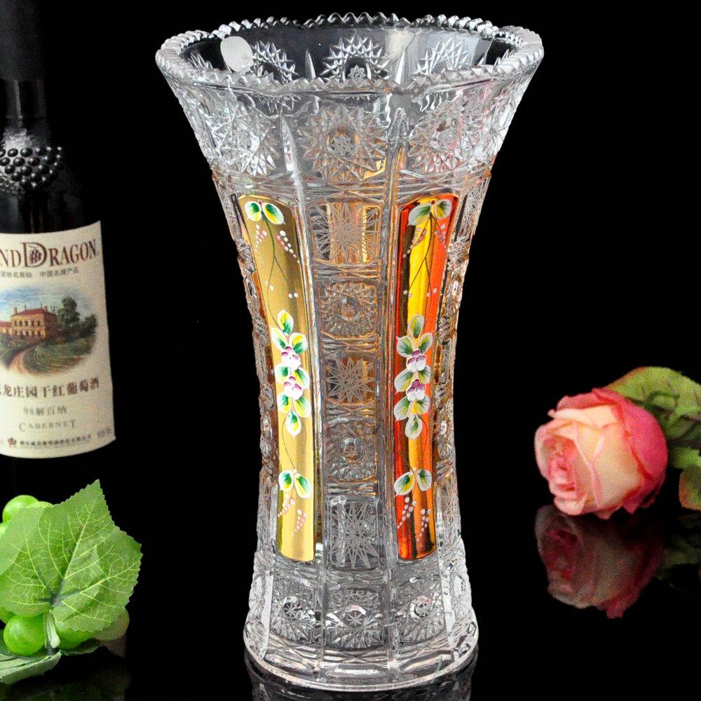 Large European style Bohemia crystal glass vase vase Home Furnishing bottles of fake jewelry ornaments(China (Mainland))