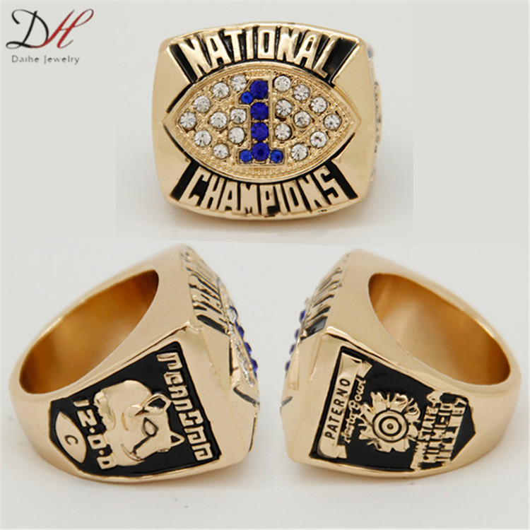 CR-20467 Defective Sport Ring Penn State Fiesta Bowl 1986 National Championship Ring Size 11(China (Mainland))