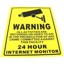 CCTV Security Camera System Warning Sign Sticker Decal Surveillance 200mmx250mm -OD(China (Mainland))