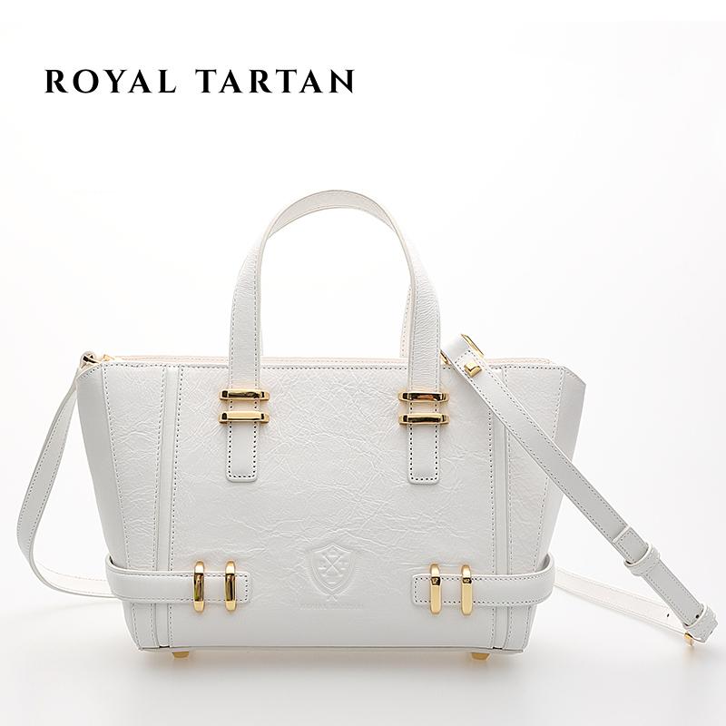 ROYAL font b TARTAN b font luxury handbag designer genuine leather bag OL fashion tote women