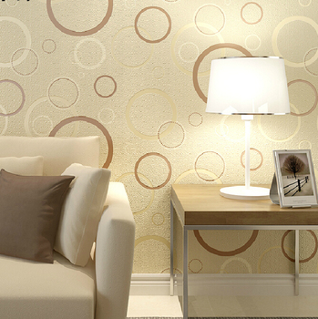5 Color Fashion Stereo 3D Circle Wallpaper Modern Minimalist Living Room Bedroom Background Wallpaper Non-woven Wallpaper Roll