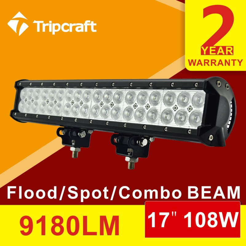 17 inch 108W CREE LED Light Bar for Truck Trailer 4x4 4WD SUV ATV Off Road Car 12v Work Lamp Pencil Spread Beam IP67<br><br>Aliexpress