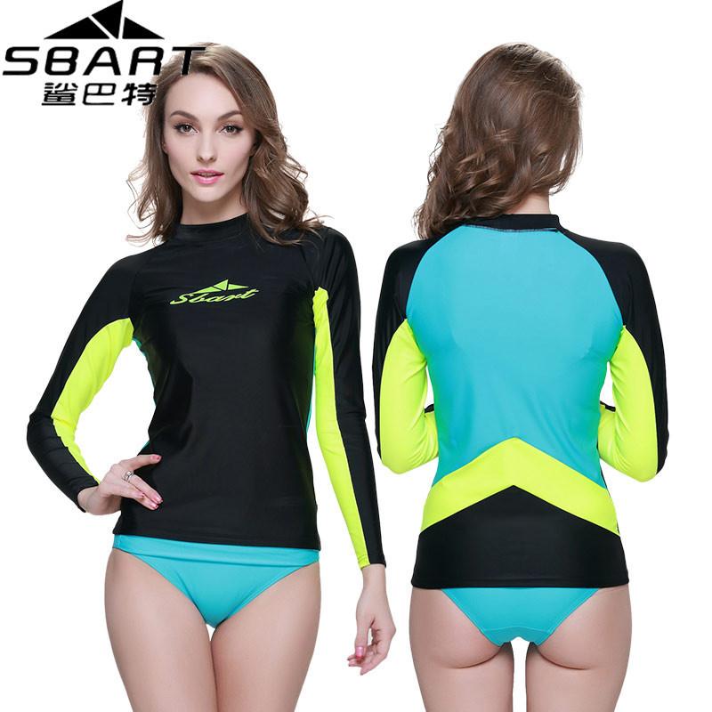SBART Brand Rashguard Women Swim Shirts Womens Rash Guard Swimwear Lycra Surf Rushguard Top Quality Rush Guard UPF 50 UV O923(China (Mainland))