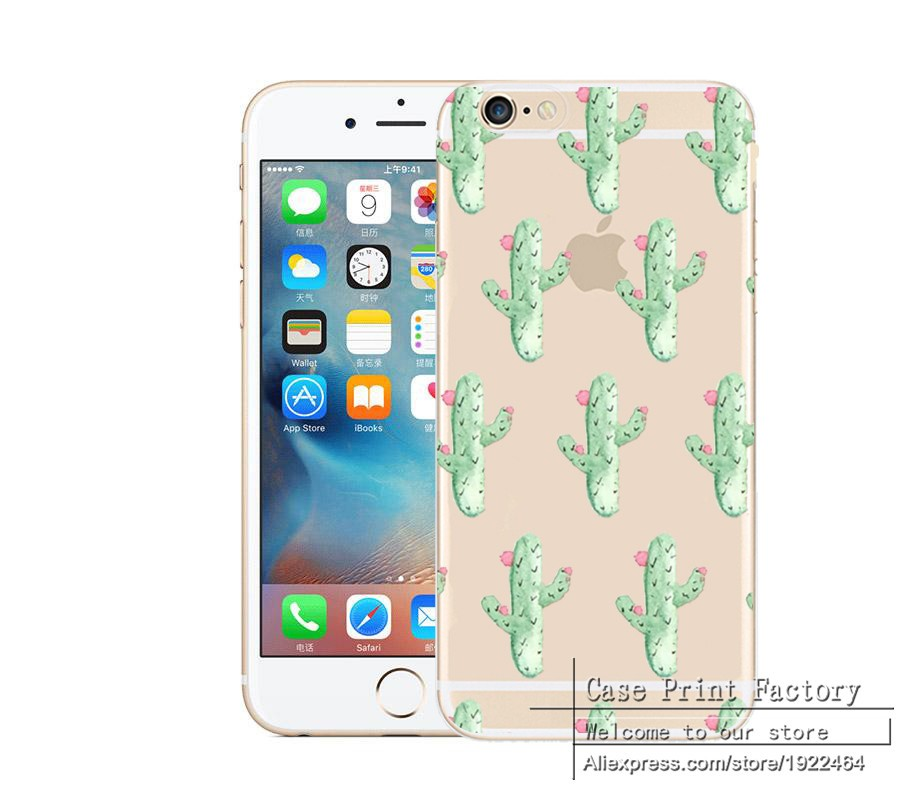 Fruit Watermelon Cherry Deer Cactus Sexy lips Case Cover for iPhone 4 4S SE 5 5S 5C 6 6S 6Plus 6SPlus PC Transparent Clear Shell