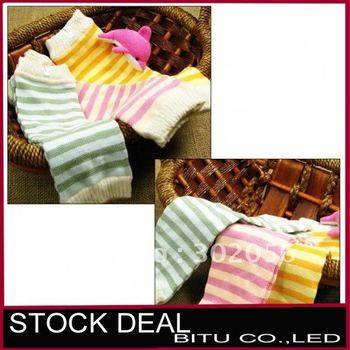 10pair/lot 3 color on sale Stripe baby Leg warmers BB020p