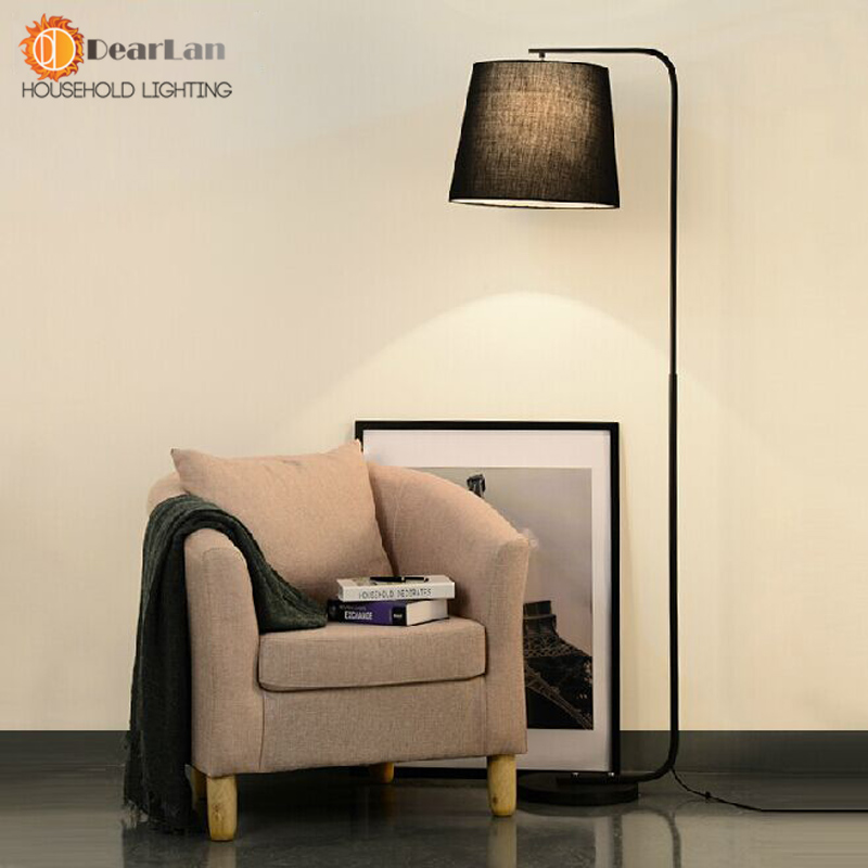 Modern Brief Fork Fabric Floor Lamp Modern Brief Bedroom