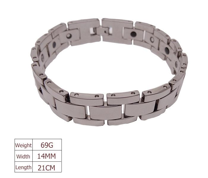 Wholesale &amp; Retail 14MM Width 21CM 69G Men Tungsten Bracelet Magnetic Energy Jewelry Heavy Carbide Bracelets Free Shipping<br><br>Aliexpress
