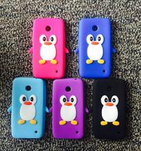 Phone Case For Nokia Lumia 635 630 3D Cute Cartoon Minnie Dog Penguin Stitch Sulley Cheshire Cat Soft Silicone Cover case(China (Mainland))