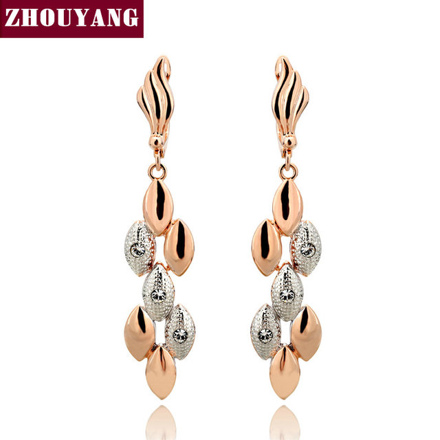 Top Quality ZYE095 Earrings  Rose Gold Plated Fashion Jewelry Made with Austrian Crystal  Wholesale