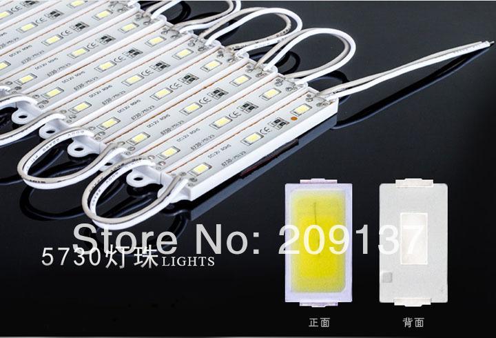 100pcs SMD5730 3 LED Module Cold/White/Warm White Waterproof IP65 DC12V Free Shipping(China (Mainland))