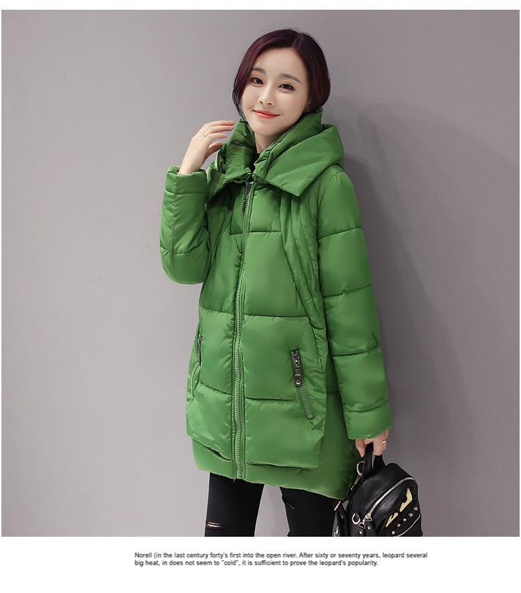 Скидки на 2016 Новая Зимняя куртка женщины повседневная средней длины с капюшоном тонкий парки камуфляж печати с длинным рукавом теплый толстый основной верхняя одежда