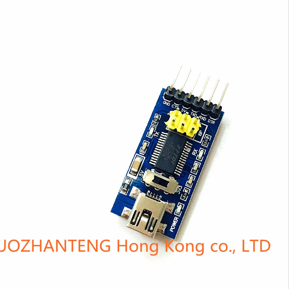 10PCS FT232RL FTDI Basic USB to serial for Arduino pro mini download cable USB TO 232 FT232 USB to TTL module Free shipping