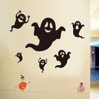 Halloween Horror Ghost Pattern Wall Sticke Mural DIY Decorations Home Decor WallPaper Stickers Art Cartoon for Kids Room