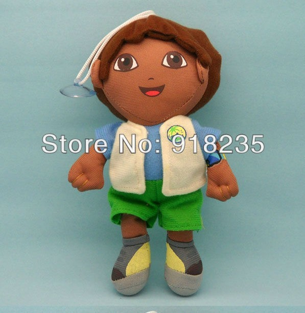 "Free Shipping 8"" Dora the Explorer Go Diego Go Plush Dolls Toy Retail(China (Mainland))"
