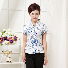 High Quality Summer Cotton Chinese Style Women Tang Suit Tops Blouse Vintage Traditional Chinese Shirt M L XL XXL XXXL 4XL T26