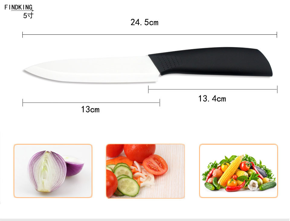 """Buy Scabbard Sharp Quality 3"""" 4"""" 5"""" 6"""" inch Ceramic Knife Set Black Handle Paring Fruit Utility Chef Home Kitchen Knives with Peeler cheap"""
