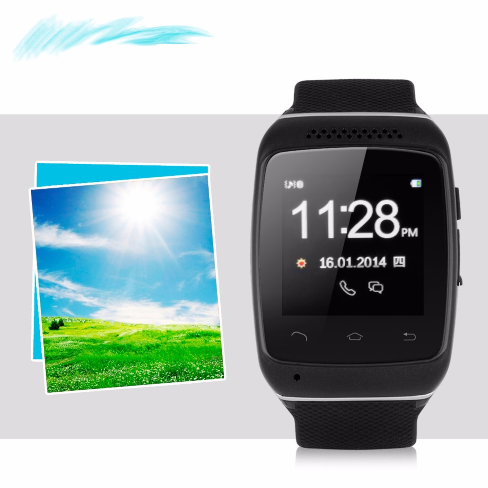 Excelvan Bluetooth Smart Wristwatch Sync Call SMS Music Weather Reminder Anti-lost for ios Android Samsung HTC LG Free Shipping(China (Mainland))