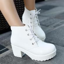 2012 fashion high-heeled shoes platform boots with a single thick heel platform shoes vintage women's shoes ankle boots martin(China (Mainland))